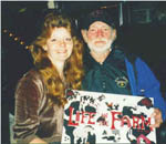 Ev Johnson with Willie Nelson